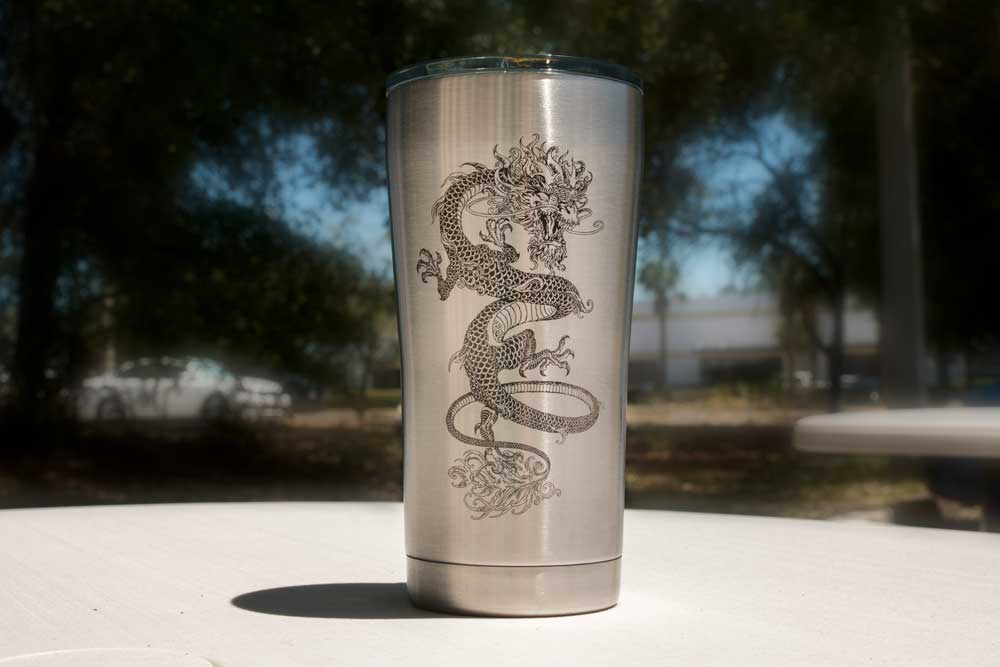 Laser Engraving on Stainless Steel Cup