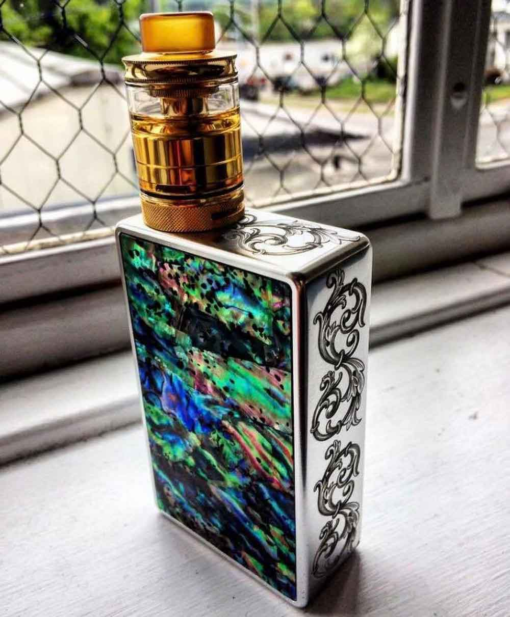 Scroll Pattern Engraving on Vape