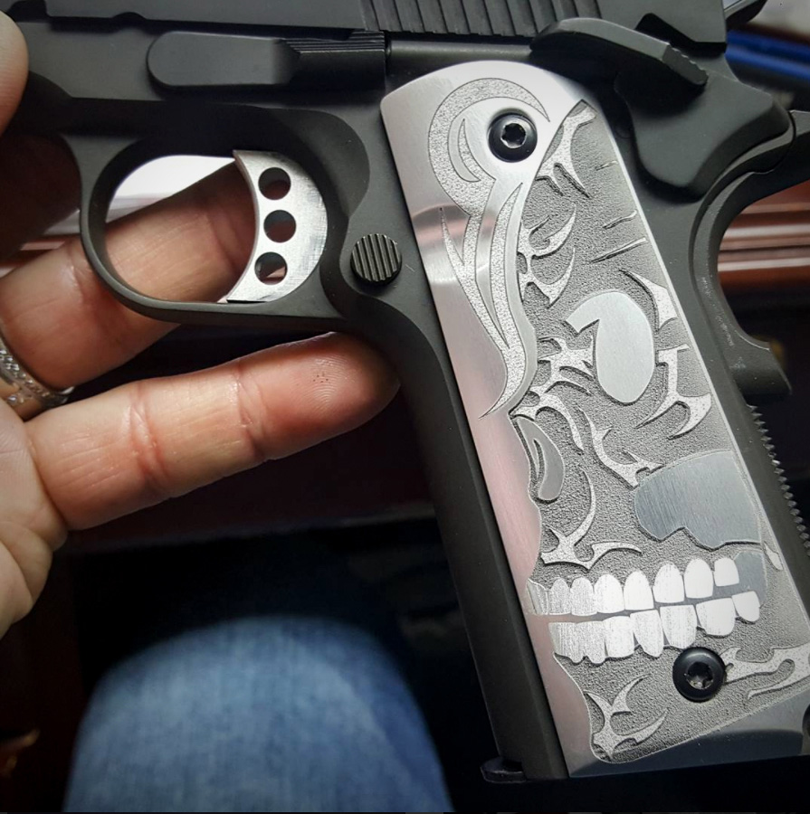 Deep Engraving on Grips with Lasers